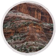 Sedona Snow Round Beach Towel