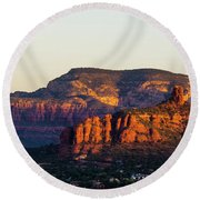 Sedona Sunrise Round Beach Towel