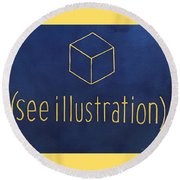 See Illustration Round Beach Towel