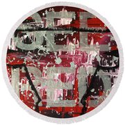 See Red Chicago Bulls Round Beach Towel