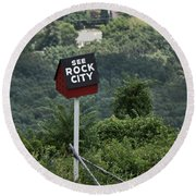 See Rock City Round Beach Towel