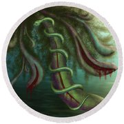 Seed Constrictor Round Beach Towel