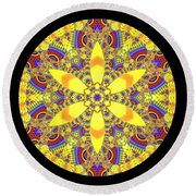 Round Beach Towel featuring the digital art Seed Of Life  by Robert Thalmeier