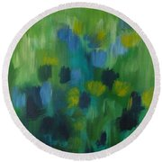 Seedtime Green Round Beach Towel