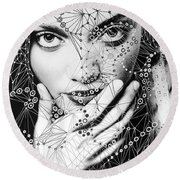 Seeing Yourself From Within Round Beach Towel