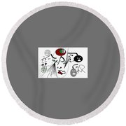 Seekers Phantom Round Beach Towel