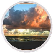 Round Beach Towel featuring the photograph Seeking Peace by Steven Lebron Langston