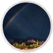 Round Beach Towel featuring the photograph Seeking That Pot Of Gold  by Saija Lehtonen
