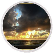 Round Beach Towel featuring the photograph Seeking The Day by Steven Lebron Langston