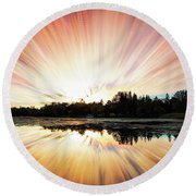Seeleys Bay Explosion Round Beach Towel