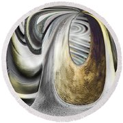 Seen In Stone Round Beach Towel by Wendy J St Christopher
