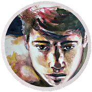 Self Portrait 2016 Round Beach Towel