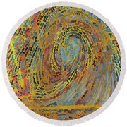 Self Portrait R1 Round Beach Towel