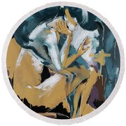 Self Reflection - Of A Dancer Round Beach Towel