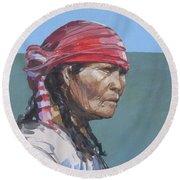 Seminole 1987 Round Beach Towel by Bob George