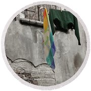 Semplicita - Venice Round Beach Towel by Tom Cameron