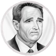 Sen Jeff Flake Round Beach Towel