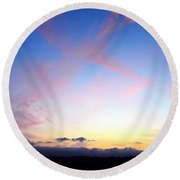 Send Out Your Light Round Beach Towel
