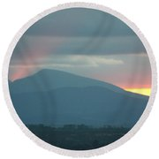 Round Beach Towel featuring the photograph Sendoff by Brian Boyle