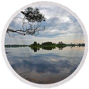 Round Beach Towel featuring the photograph Seney National Wildlife Refuge by Rodney Campbell