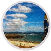 Sengigi Round Beach Towel