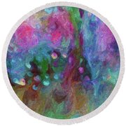 Sensations Round Beach Towel by Don Wright