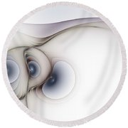Sensual Manifestations Round Beach Towel by Casey Kotas
