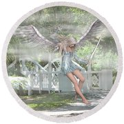 Sent From Heaven Round Beach Towel