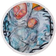 Sentimental Journey Round Beach Towel by Gail Butters Cohen