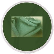 Sentiments Of Rose Round Beach Towel by The Art Of Marilyn Ridoutt-Greene
