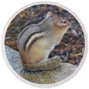Sentinel Round Beach Towel by Pamela Clements