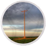 Sentinels On The Plains Round Beach Towel