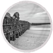 Separation Monochrome Round Beach Towel