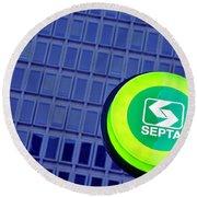 Septa Sign Round Beach Towel