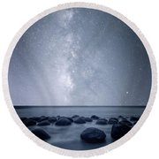 Round Beach Towel featuring the photograph Septarian Concretions by Dustin LeFevre