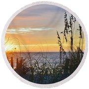September 27th Obx Sunrise Round Beach Towel