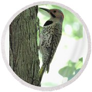 September Flicker Round Beach Towel