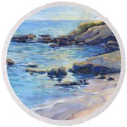 September Light / Laguna Beach Round Beach Towel