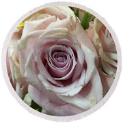 September Rose Round Beach Towel by Russell Keating
