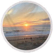 September Sunrise  30 Round Beach Towel