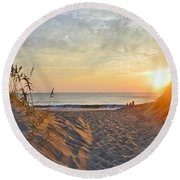 September Sunrise Round Beach Towel