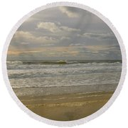 September Sunrise Round Beach Towel