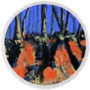 September's Symphony Round Beach Towel by Donna Blackhall