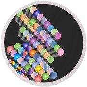 Round Beach Towel featuring the digital art Sequence by Eleni Mac Synodinos
