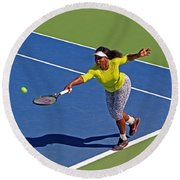 Serena Williams 1 Round Beach Towel by Nishanth Gopinathan