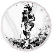 Serena Williams Dont Quit Round Beach Towel by Brian Reaves