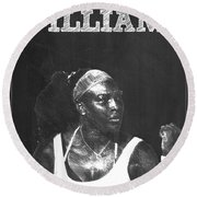 Serena Williams Round Beach Towel by Semih Yurdabak