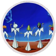Serenade Of The Sisters Round Beach Towel