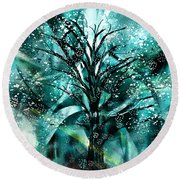 Rising Expression Round Beach Towel