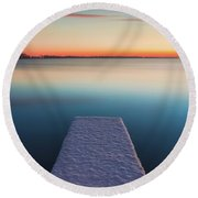 Serene Morning Round Beach Towel